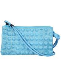 Pleats Please Issey Miyake Puchi Puchi Crossbody Bag - Blue