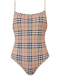 Burberry Vintage Check One-piece Swimsuit - Multicolor