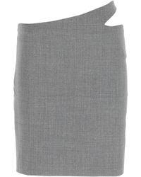 Coperni Cut-out Detailed Mini Skirt - Grey