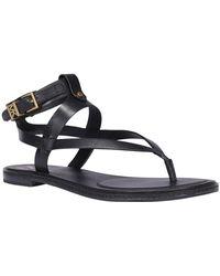 MICHAEL Michael Kors Pearson Thong Sandals - Black