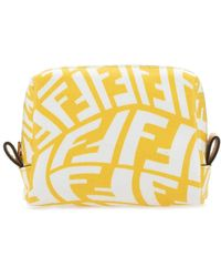 Fendi Ff Vertigo Make-up Pouch - Yellow