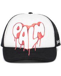 Palm Angels Spray Logo Print Cap - Multicolour