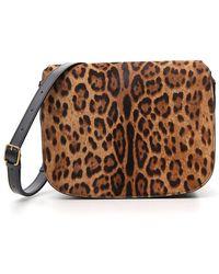 Saint Laurent Chiara Leopard Print Bag - Brown