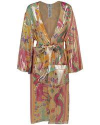 Etro - Naïf Geometric Kimono Robe - Lyst