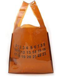 Maison Margiela Printed Shopper Bag - Orange