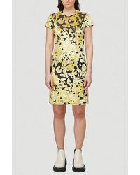 Eckhaus Latta Shrunk Abstract Paneled Mini Dress - Yellow