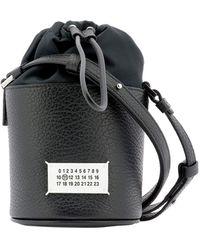 "Maison Margiela ""5ac Micro"" Bucket Bag - Black"