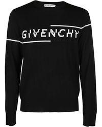Givenchy Split Logo Crew Knit - Black