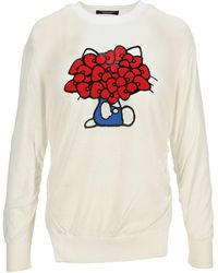 Undercover Hello Kitty Longsleeved Sweater - White