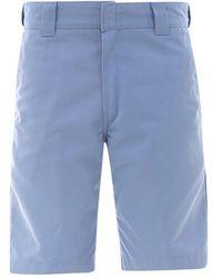 Carhartt WIP Rear Logo Patch Bermuda Shorts - Blue