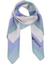 Emporio Armani Silk Foulard Scarf - Blue