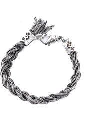 Emanuele Bicocchi Braided Bracelet - Metallic