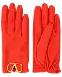 Valentino Vlogo Gloves - Red