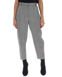 Alexander McQueen Houndstooth Plaid Pants - Gray
