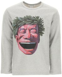 Comme des Garçons Graphic Print Crewneck Sweatshirt - Grey