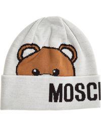 Moschino Women's Beanie Hat Teddy - Multicolour