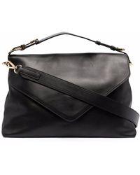 Alberta Ferretti Black Leather Crossbody Bag
