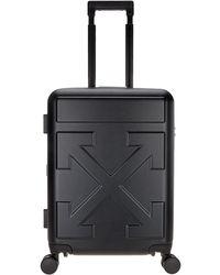 Off-White c/o Virgil Abloh Arrow Embossed Trolley Suitcase - Black