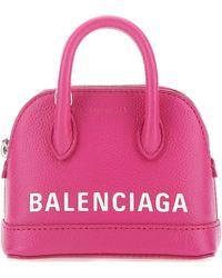 Balenciaga Ville Mini Top Handle Tote Bag - Pink
