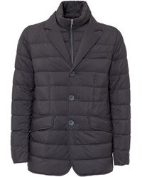 Herno Quilted Down Jacket - Blue