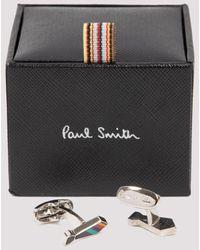 Paul Smith Stipe Tie Cufflinks - Multicolour