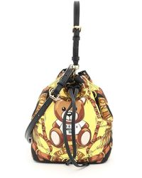 Moschino Teddy Scarf Printed Bucket Bag - Multicolour
