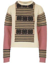Max Mara Intarsia Knitted Sweater - Multicolor