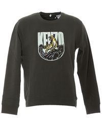 KENZO Tiger Mountain Embroidered Sweater - Green