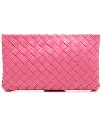Bottega Veneta Intrecciato Weave Make Up Bag - Pink
