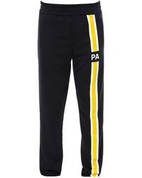 Palm Angels Zip-up Sweatshirt With Initials - Black