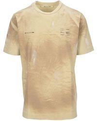 1017 ALYX 9SM Double Logo Printed T-shirt - Natural