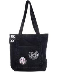 Raf Simons Badge Appliqué Denim Tote Bag - Black