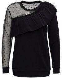 RED Valentino Redvalentino Tulle-detailed Sweatshirt - Black