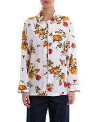 Alexander McQueen Floral Print Pajama Shirt - Multicolor