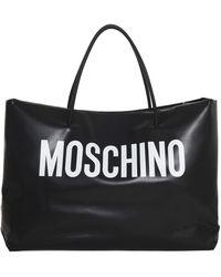 Moschino Logo Large Tote Bag - Black