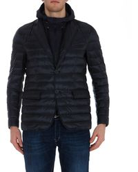Herno Double-layer Padded Jacket - Blue