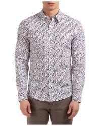 Michael Kors Men's Long Sleeve Shirt Dress Shirt - Multicolor
