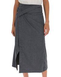 3.1 Phillip Lim - Wrapped Midi Skirt - Lyst