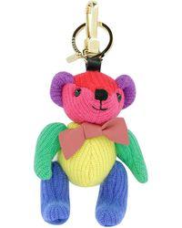 Burberry - Cashmere Bear Keychain - Lyst