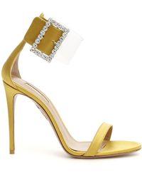 Aquazzura Embellished Stiletto Sandals - Yellow