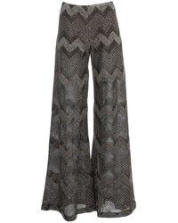M Missoni Herringbone Flared Trousers - Black