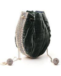 Rosantica Crystal-embellished Drawstring Bag - Green