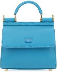 Dolce & Gabbana Sicily 58 Top Handle Bag - Blue