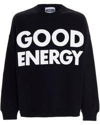 Moschino Slogan Printed Sweatshirt - Black