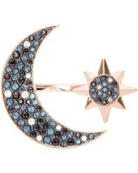Swarovski Symbolic Moon Ring - Blue