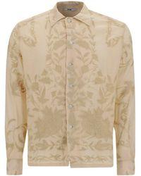 Bode Floral Embroidered Shirt - Natural