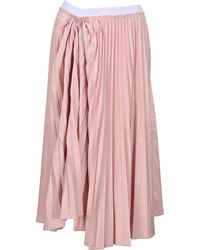 Marni Ruched-detail Pleated Midi Skirt - Pink