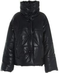 Nanushka Hide High-neck Puffer Jacket - Black