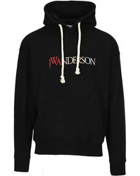 JW Anderson Embroidered Logo Hoodie - Black