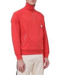 Diesel Red Tag High-neck Sweatshirt - Red